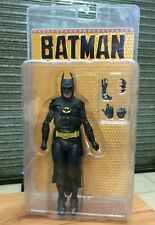 "Neca Batman Michael Keaton vintage movie 1989 Tim Burton 7"" action figure"