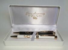 50th Golden Gold Wedding Anniversary Gifts Ideas Gift Boxed Pen Set WG331