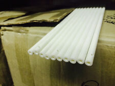 Lot of 10  White Fiberglass rods - Hollow tubes - 15-16'' long -8mm OD - 4 mm ID