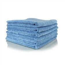 24 PACK NEW MICROFIBER TOWELS CLEANING TOWELS PLUSH 16X16 300 GSM LINT FREE BLUE