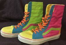 Vans Shoes Skate Off The Wall High Top Neon Glow Pride Men's Sz 8 EUC Vintage