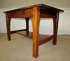ANTIQUE GUSTAV STICKLEY MISSION OAK LIBRARY TABLE, DESK, ARTS AND CRAFTS, MODEL