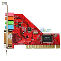 PCI Sound Card 4 Channel Audio Stereo 15pin Standard Game Midi Port For Computer