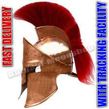 COLLECTIBLES MEDIEVAL ROMAN SPARTAN HELMET KING 300 LEONIDAS ARMOR W/RED PLUME1