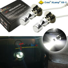 2PCS White 30W 6-CREE High Power H3 LED Bulbs For Fog Lights DRL Driving Lamps