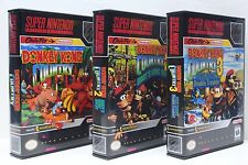 Donkey Kong Country 1, 2, 3, 1-3 Diddy Dixie - SNES Custom Cases - *NO GAMES*