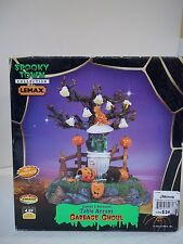 lemax halloween spooky town Village Garbage Ghoul table accent lighted ghost