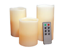 LED Scented Wax Candles with Remote Control 4''  5''  6'' Flameless Warm White