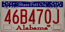 Original Nummernschild USA Alabama Stars Fell On plaque d'immatriculation TARGA
