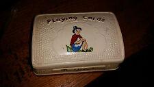 Vintage Retro Tiza Beddgelert tocando portatarjetas/tarjetas de animales Recipiente Con