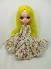 Blythe Outfit Handcrafted long sleeve dress basaak doll # 790-82