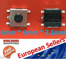 2Pcs - Tactile Push Button Tact Micro Switch Push Button 5-Pin SMD 6X6X3.1mm V10