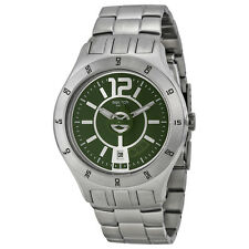 Swatch In a Green Mode Olive Green Dial Stainless Steel Mens Watch YTS407G