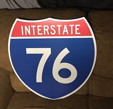 "Vintage N.O.S. Interstate 76 Highway Shield Sign 24"" Authentic I-76 I76 Man Cave"
