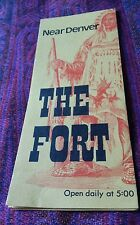 VINTAGE 1960'S BROCHURE PRINT AD THE FORT RESTAURANT MORRISON, CO NEAR DENVER