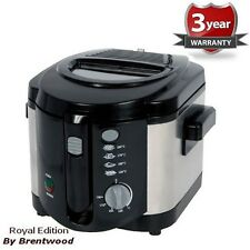 Royal Deep Fryer 2.0L 1200W Cool Touch Stainless Steel Black