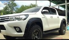 TOYOTA HILUX REVO DOUBLE CAB 7.5' MATT BLACK FENDER FLARES WHEEL ARCH WITH NUTS