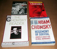 4 Books NOAM CHOMSKY 9-11 CIA PENTAGON WARS HEGEMONY GLOBAL DOMINANCE STRATEGY