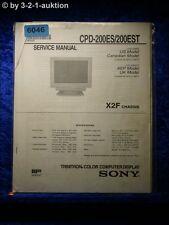 Sony Service Manual CPD 200ES /200EST Computer Display (#6046)
