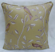 Sanderson Fabric ~ Finches  Sage colourway  Cushion Cover Option 10 Collection