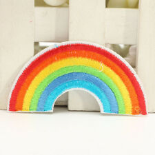 Embroidery Patch Sewing Iron Clothes Bags T- shirt Rainbow DIY Fabric Craft