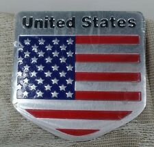 US USA Flag Sticker American Emblem Badge Decal Car Auto Logo Universal New