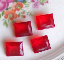 #1491P Vintage Rhinestones Red Ruby Pointed 12x10mm NOS Square Rectangle Rare