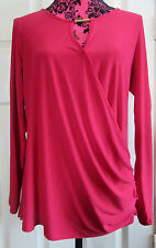 BNWT Ladies Red Cross Over Long Sleeve Top Size 12