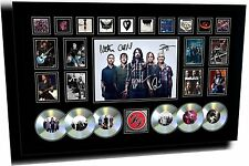 NEW FOO FIGHTERS SIGNED LIMITED EDITION FRAMED MEMORABILIA