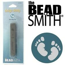 Metal stamp, punch by Beadsmith, baby feet, foot, 6mm