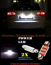 AUDI A3 8P 2005-2012 LUCI TARGA 12 LED SMD BIANCO ALTA QUALITA' 36MM NO ERRORE
