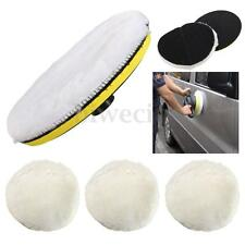 5Pcs 7'' Inch 180mm Soft Wool Polishing Buffing Pad Bonnet Wheel Buffer Polisher