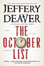 THE OCTOBER LIST   -Jeffery Deaver-  PAPERBACK