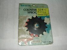 NEW SUNSTAR 30415 FRONT SPROCKET HONDA CR125 1983-85 15 TOOTH
