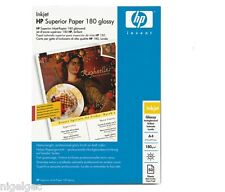 100 SHEETS HP A4 SUPERIOR INKJET GLOSS PAPER 180GSM DOUBLE SIDED