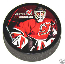 MARTIN BRODEUR New Jersey Devils Player Photo SOUVENIR PUCK Sherwood In Glas Co