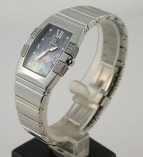 OMEGA Constellation Quadrella Damen Uhr lady Stahl Diamanten diamonds Brillanten