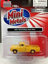 HO 1/87 Classic Metal Works # 30410 '60 Ford Pickup - Armour Yellow