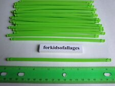 "KNEX BUILDING TOY LOT: 50 Neon Green 7 1/2"" Flexi Rods Flexible 7.5"" Fluorescent"