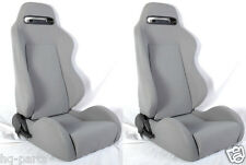 NEW 1 PAIR GRAY CLOTH RECLINABLE RACING SEATS FOR CHEVROLET !!