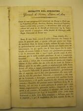 BARUFFI G. F., Estratto dal Subalpino Giornale di Scienze, Lettere ed Arti