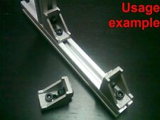 Aluminum T-slot profile 90 deg corner bracket 20x20-6mm + screw + T-nut, 8-set