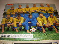 FOOTBALL COUPURE PRESSE FM27 COULEUR 32x24 EQUIPE NATIONALE SUEDE 1969
