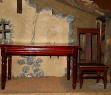 1/6 Scale Woden Table / Desk with Chair loose