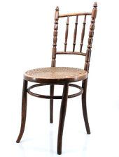 alter Fischel Kaffeehaus Stuhl Bistro Bugholz mit geflochtener Sitzfläche