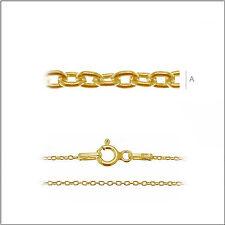 Halskette Ankerkette, Echt 925er.Sterling Silber 24K vergoldet  45cm     A030AU