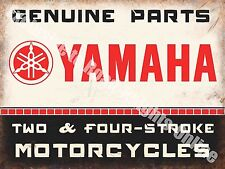 Yamaha Classic 70's Retro Motorcycle, Bike 106 Old Garage, Medium Metal/Tin Sign