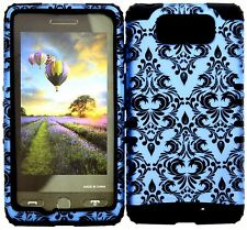 Hybrid Case Motorola DROID MAXX XT1080M Verizon Victorian B Damask Flower Black