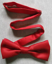 VINTAGE MENS DICKIE BOW TIE BOWTIE 1990s BRIGHT RED FUNKY DINNER PARTY SMART