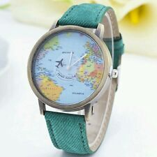 Newly Design Green Mini World Map Watch Men Women Gift Watch